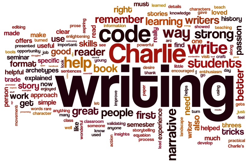 This Wordle graphic shows the relative importance of different words in evaluations of The Writing Code. Click the image to see what TWC participants say.